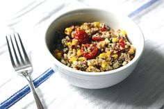 Very Healthy Quinoa and Roasted Corn Dish!