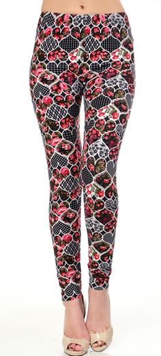 Hearts Yummy Brushed Leggings One Size & Plus Size www.shopluxleggings.com comfy, classy & just a little bit sassy!