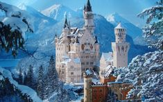 "royals-and-quotes: "" 30 Most Beautiful Castles in the World - Neuschwanstein Castle is a nineteenth-century Romanesque Revival Palace on a rugged hill above the village of Hohenschwangau in. Beautiful Castles, Beautiful Places, Amazing Places, Winter Wallpaper Hd, Hd Wallpaper, Wallpaper Computer, Anne Will, Germany Castles, Neuschwanstein Castle"