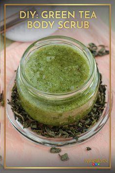 Green Tea Bags, Diy Skin Care, Head To Toe, Body Scrub, Body Scrubs, Homemade Skin Care