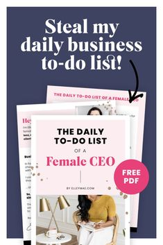 How I get the right CEO entrepreneur mindset for a successful 6 figure business with this daily to do list! #BusinessTips #BusinessSuccess