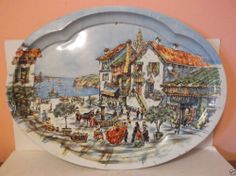 Daher Decorated Ware Tray Made In England Vintage Floral Daher Decorated Ware Tin Tray Made In England
