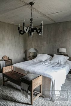 Rustic Bedroom by Fashion_Style Home Bedroom, Master Bedroom, Bedrooms, Bedroom Decor, Castle Stones, Earthy Home Decor, Sober Living, Wabi Sabi, Cheap Home Decor