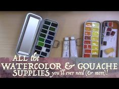 All the Watercolor & Gouache Supplies You'll Ever Need (& More)! - YouTube