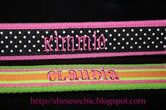SheSewChic: Embroidered Key Fobs, Part 2