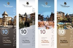 Pole Banner Graphic Design, Mammoth Lakes, The Village at Mammoth,