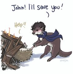 Sherlock Otter and John Hedgehog