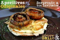#Tapas Originales. Singulares Aperitivos con Tortilla y Robellones. #Recetas de Cocina Originales y divertidas.