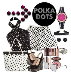 """""""vintage vamp with dots"""" by daincyng ❤ liked on Polyvore featuring Tory Burch, PBteen, Charlotte Tilbury, Vivani, vintage and PolkaDots"""