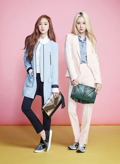 SNSD Jessica and f(x) Krystal - Lapalette S/S 2014 In love with Jessica's blue coat