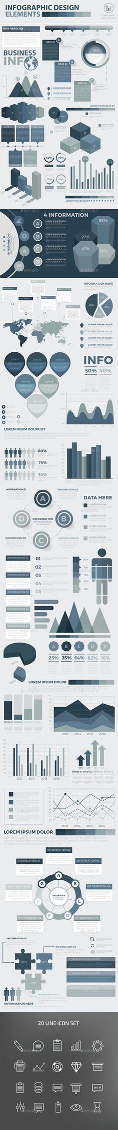 Modern Infographic Elements Design Template Vector EPS, AI Illustrator. Download here: http://graphicriver.net/item/modern-infographic-elements-design/16480725?ref=ksioks