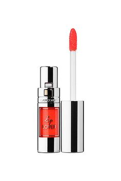 Try: This pigment-packed gloss can be worn over lipstick or diffused with a lip brush or finger for a rich, coral hue that looks pretty with shimmery shadow. Lancôme Lip Lover in Orange Manege, $24, available at Sephora. #refinery29 http://www.refinery29.com/2016/11/128519/lily-aldridge-celebrity-nude-makeup-trend#slide-12