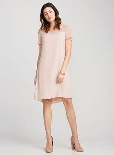 La robe droite épaules voile - Robes - Vieux rose Robes De Bureau 1ee27caa10c