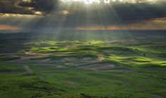 """Light Beams.  """"The Palouse HIlls, at Steptoe Butte State Park. Wa.""""  by Javier Acosta."""