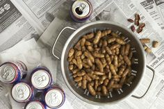 Boiled Peanuts and Beer are Simply Southern. Boiled Peanuts, Simply Southern, Chicken Wings, Almond, Food Photography, Cave, Guy, Beer, Entertaining