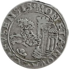 "Rare 1633 Swiss cantons Schaffhausen silver dicken coin at www.numismaticland.co.uk Obverse: Ram leaping from temple  Obverse legend: ""MONETA NOVA SCAFVSENSIS""  Reverse: Imperial eagle  Reverse legend: ""DEVS SPES NOSTRA EST""  Country: Swiss cantons Schaffhausen  Year: 1633  Metal: silver  Weight approx.: 8.0g  Diameter approx.: 31mm  100% AUTHENTIC"