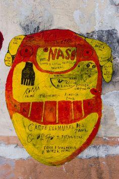 Giovanni Bosco,  titre, sans date, fresque à la peinture acrylique à Castellammare del Golfo, Sicile