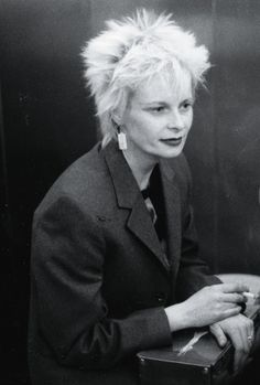 Vivienne Westwood, aged 32, Gitanes in hand, 1973Photography courtesy of the Vivienne Westwood archive