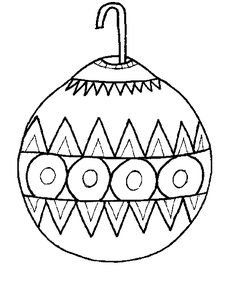 Ornament Coloring Sheets Page