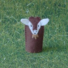 Goat Finger Puppet  Farm Animal Finger Puppet  by cherylasmith, $5.00