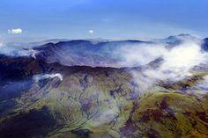 Caldera del Monte Tambora, formada durante la erupción de 1815 en la isla indonesia de Sumbawa. Créditos: Jialiang Gao