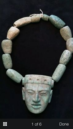Mayan funerary necklace-700-900 AD