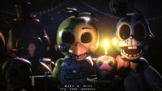 Credits: Inspiration by a poster i saw a long ago but i dont remember the owner so the idea is not by me Toy Chica by and Toy Bonnie by Toy Freddy . Make a Wish, It's your Birthday - [FNaF 2 Blender] Five Nights At Freddy's, Freddy S, Fnaf Cake, Fnaf Wallpapers, 1080p Wallpaper, William Afton, Fnaf Drawings, Freddy Fazbear, Sister Location