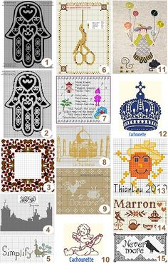 Free charts: Cross-stitch