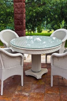 Protect Your Wicker Patio Furniture Or Rattan With Custom Cut Glass  Available In Various Sizes,