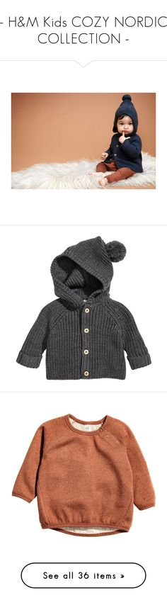 """""""- H&M Kids COZY NORDIC COLLECTION -"""" by carla-turner-bastet ❤ liked on Polyvore featuring tops, cardigans, raglan top, button cardigan, dark gray cardigan, long button cardigan, merino cardigan, button sweater, long sweater and button top"""