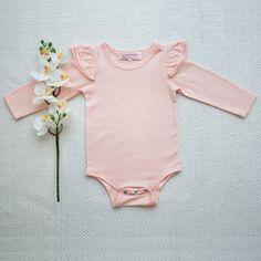 0cb7918d84b7 Long Sleeve Flutter Leotard Top - Peach. Baby GirlsLittle GirlsBaby BabyBaby  Girl FashionKids ...