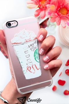 hand drawing starbucks transparent iphone case
