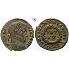 Römische Kaiserzeit, Licinius I., Follis 320, ss+: Licinius I. 308-324. AE-Follis 19 mm 320 Siscia. Kopf r. mit Lorbeerkranz IMP… #coins
