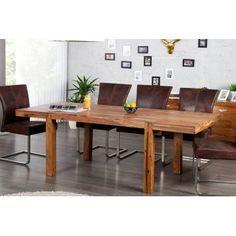 Table à manger extensible en bois massif Sheesham Lagos 120/200 cm