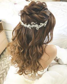Hair_Makeup_MihoさんはInstagramを利用しています:「. ヘアはハーフアップでした☺︎♡ . . #hawaiiwedding #hawaiihairmake #hairmake #wedding #wedinghairmake #ハワイ挙式 #ハワイウェディング #ハワイヘアメイク #ヘアメイク #ヘアアレンジ #ヘアセット…」