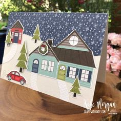 Heart of Christmas: Trimming the Town Card and Shaker Ornament – Kate Morgan, Independent Stampin Up!® Demonstrator Rowville, Victoria, Australia