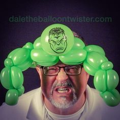 Hulk Balloon Hat (inspired by Donna Wachter Wiles & Buster Balloon).