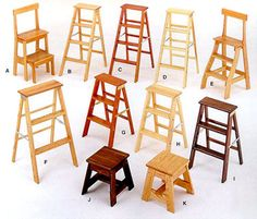 Putnam Rolling Ladder Company also has a nice selection of solid hardwoods Step stools in Ash, Birch, Cherry, Mahogany, Maple, Oak and Walnut.
