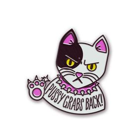 PREORDER: Pussy Cat Grabs Back Pin