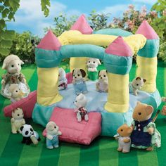 Sylvanian Families Village Show Bouncy Castle with Beagle Dog Baby