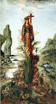 The Mystic Flower  by Gustave Moreau (French, 1826-1898)