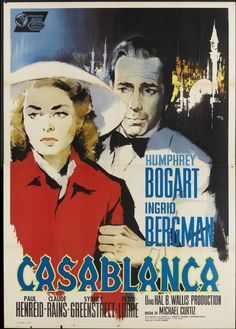 "Italian Poster for Re-release of U.S. Film, ""Casablanca,"" 1962"