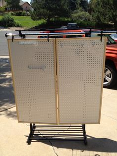 Free Standing Pegboard Display