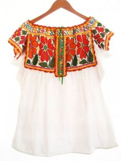 Mexican Blouse, Hand Embroidered Tops, Oaxacan Blouse | Mexican blouse,  Hands and Mexicans