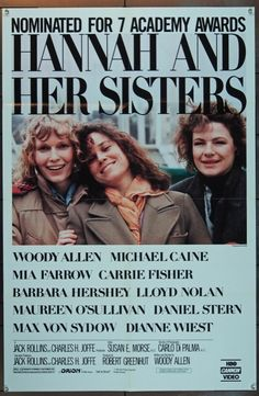 MovieArt Original Film Posters - HANNAH AND HER SISTERS (1986) 4736, $30.00 (http://www.movieart.com/hannah-and-her-sisters-1986-4736/)
