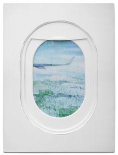 Jim Darling's airplane window seat paintings