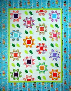 """""""Summer Breeze"""" from C&T Publishing's book """"Flip & Fuse Quilts"""" by Marcia Harmening of Happy Stash Quilts"""