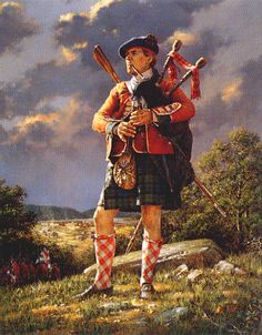 Piper of the 77th Highland Regiment!