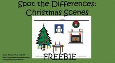 Contrast 2 christmas scenes use this activity for expressive language