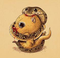 Mais predadores e presas de uma maneira fofinha